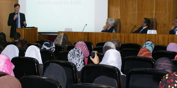 Presentation to the Faculty of Media and Communication, Cairo University